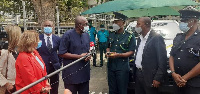 Ambrose Dery, Minister of the Interior designate received the items on behalf of the government