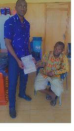 Adanko Deka [in chair] has been facing health and financial challenges