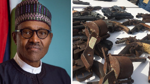 Buhari govment don dey suffer rising levels of insecurity in parts of di country