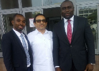 Mr Sivaram (middle) with Mr Marfo (right) and Nanabanyin Ackon (left), his legal team