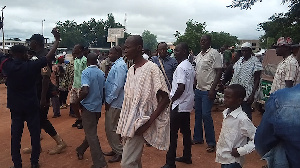 The NDC Chairman was chased out of the polls venue Saturday for allegedly campaigning for Gamson