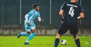 Ghanaian defender Joseph Junior Asante in action