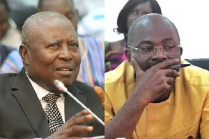 Former Special Prosecutor, Martin Amidu and MP for Assin Central, Kennedy Agyapong