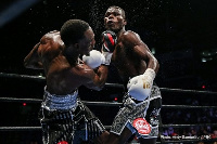 A scene from the Commey-Easer Jnr bout
