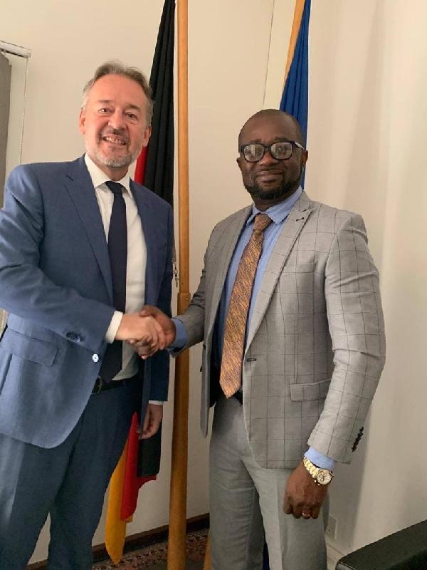 GFA president Kurt Okraku meets German Ambassador Christoph Retzlaff