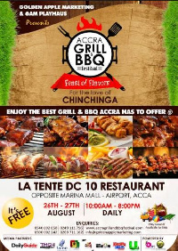 The Grill and barbecue Festival celebrates the diversity of cuisines and cultures present in Ghana