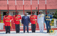 President Akufo-Addo was at the passing out parade of the Ghana Military Academy