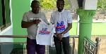 Former SRC President of the University of Ghana, Daniel Otting Awuah with Mr. Emmanuel Adei Domson