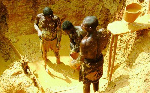 People at work in a mining site