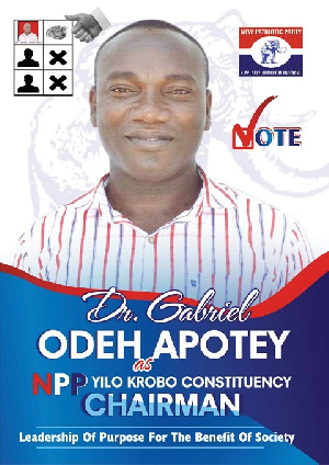 Dr. Gabriel Odeh Apotey is now NPP's Constituency Chairman at Yilo Krobo