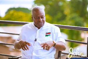 Mahama Speaking In An Interview With Mr Eric Ahianyo