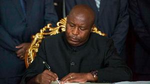 Burundi's President Evariste Ndayishimiye