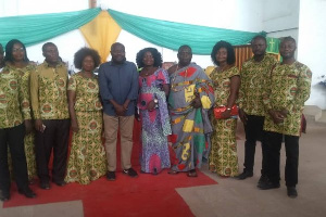 Moses Anim in a group photo with members of COHBS