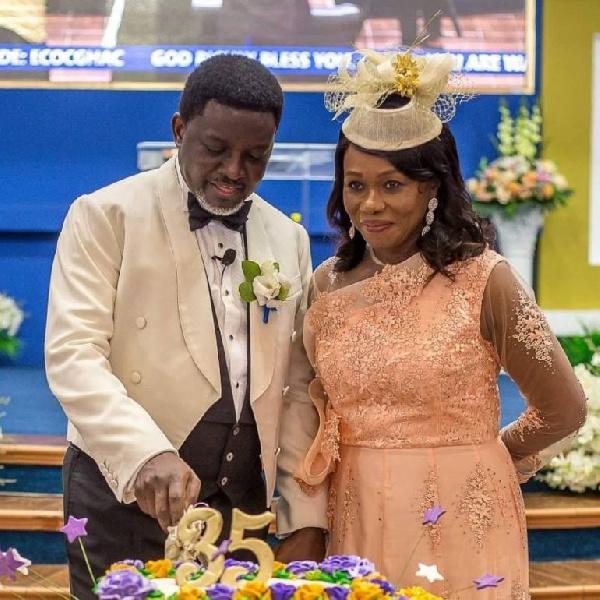 Bishop Charles Agyinasare and wife