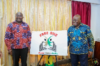 President Akufo-Addo with Vice President Dr. Bawumia after unveiling the Free SHS Logo