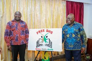 President Nana Akufo-Addo with Vice President Dr. Bawumia