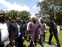 Asantehene Otumfuo Osei Tutu II led a delegation to inspect the state of property at the school