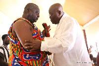 Nana Addo Dankwa Akufo-Addo with Adontehene Otubuor Gyan Kwasi II