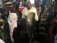 Joshua Alabi, Presidential Hopeful of NDC with some branch executives of the party