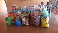 Some of items donated to the Weija Leprosarium