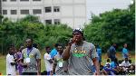 NFL star, Ezekiel Ansah with the mic