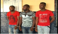 The suspected internet fraudsters