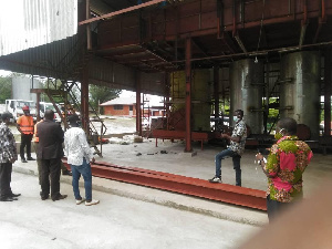 Inspection at the premises of the abandoned factory | File photo