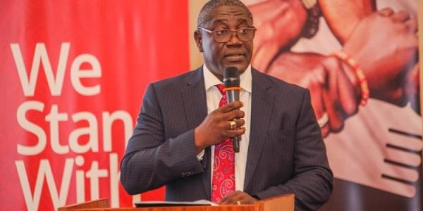 Daniel Wilson Addo,  Managing Director (MD) of Consolidated Bank Ghana with Yaa Naa
