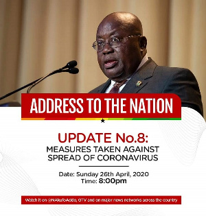 This will be the President's 8th address since COVID-19 hit Ghana