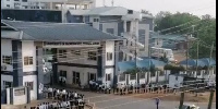 Long queue at the University of Professional Studies, Accra