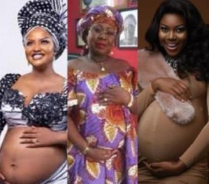 Nana Ama McBrown, Oheneyere Gifty Anti and Yvonne Nelson