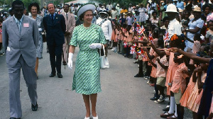 Queen Elizabeth, seen here visiting Barbados in 1977, is the island nation's head of state