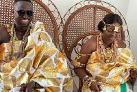 Elizabeth Ntim with her newly-wedded husband, Eric Adjei