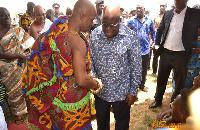 President Nana Akufo-Addo meets Goasomanhene