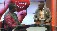 Counselor Lutterodt  passionately expressing his view in an interview on Joy News' Pulse