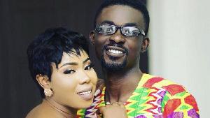 Nana Appiah Mensah and his wife