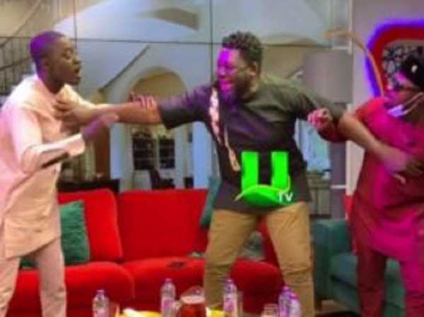 Funny Face and Lil Win engage in a brawl on live TV