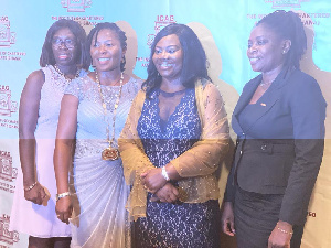 The four female council members of the Institute of Charted Accountants Ghana