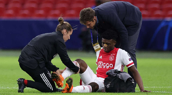 Mohammed Kudus suffer injury on Champions League debut