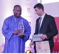 Representative of Stanbic bank Ghana at the awards ceremony
