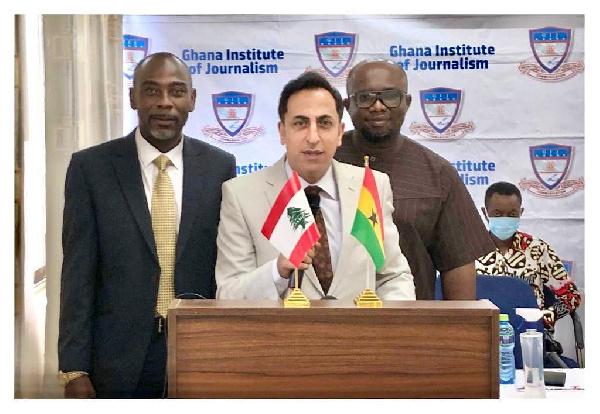Lebanese Ambassador awards 12 GIJ students despite Lebanon's crisis