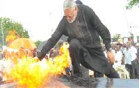 Ex-President, Flt Lt Jerry John Rawlings (File photo)