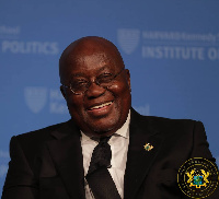 President Akufo-Addo visited the Worcester State University during his visit to the USA
