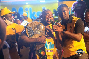 Ahmed Boakye with the 2020 Ghana's Strongest title