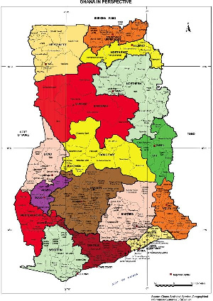 The Ghana map