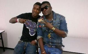 Black Stars striker, Asamoah Gyan and the late Musician Castro