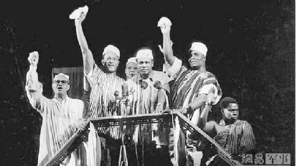 File photo: Kwame Nkrumah declaring Ghana as an independent nation in 1957