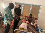 Martin Adjei-Mensah Korsah visited some victims at the hospital