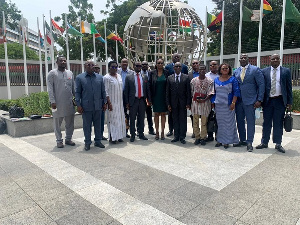 The delegation from the Burkinabe organizations in a photo