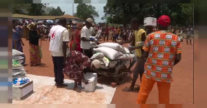 Around 2,500 families in Grimari, a town hit by the violence that erupted in CAR